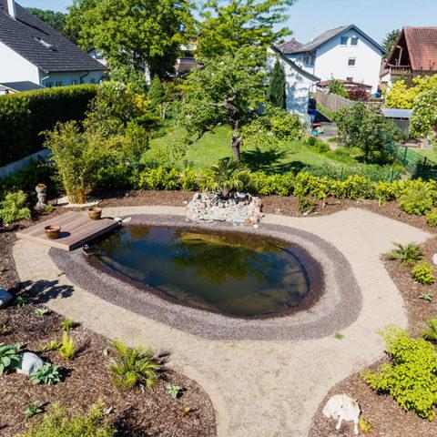 Natürlicher Teich im Garten